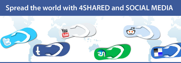 4shared at social media1 Social media available at 4shared!