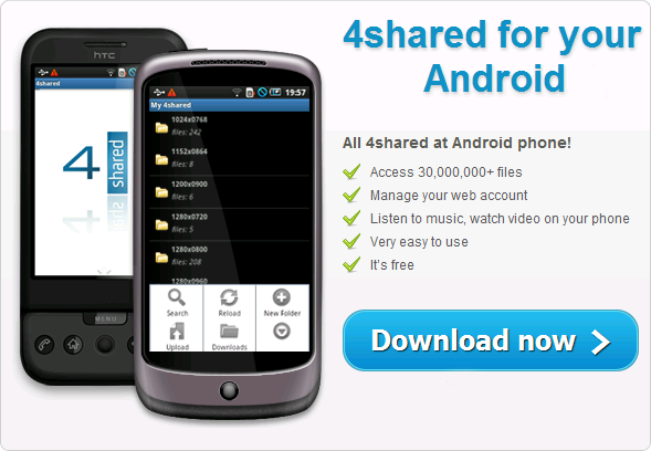 android 4shared Mobile on Android!