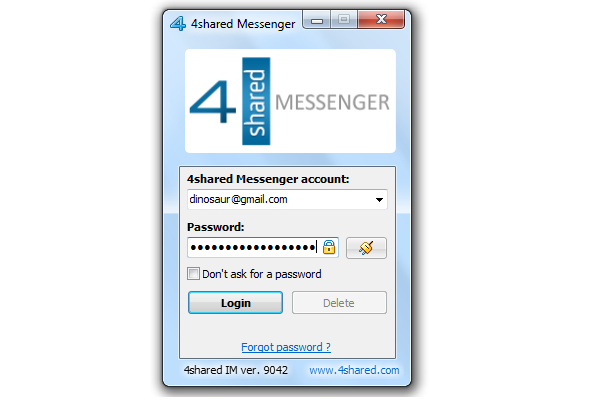 4shared Messenger – communicate with your friends everywhere