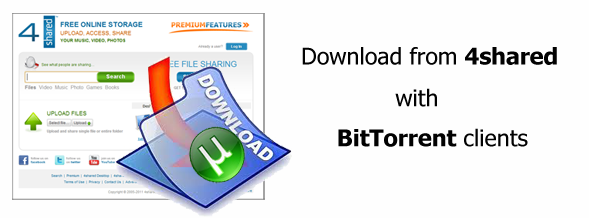 4shared torrent Download from 4shared with BitTorrent clients!