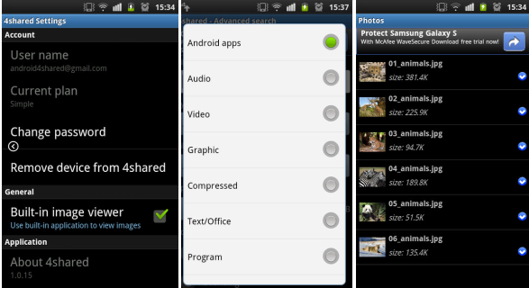 22 Advanced 4shared Mobile for Android v.1.0.15 is Out!