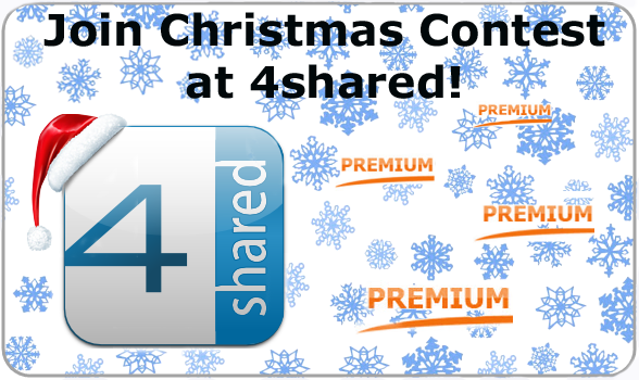 christmas contest16 Win 4shared Premium in the Christmas Contest!