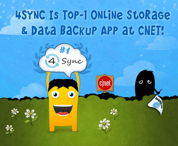1 4Sync Has Become the Top Online Storage and Data Backup App at CNET!