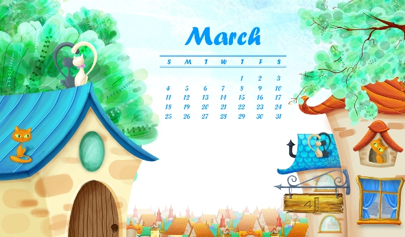 1024x600 Start Spring with a new 4shared March Calendar!