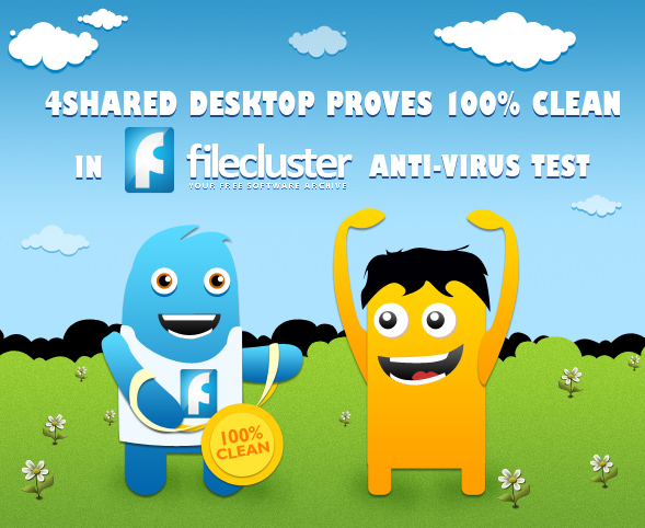 blog 06 03 03 4shared Desktop Proves 100% Clean in FileCluster Anti Virus Test!