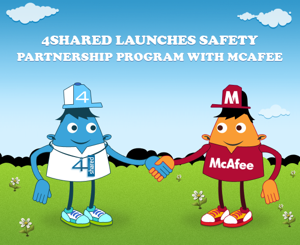 "blog 12 03 03 4shared launches a ""Safety"" Partnership Program with McAfee"