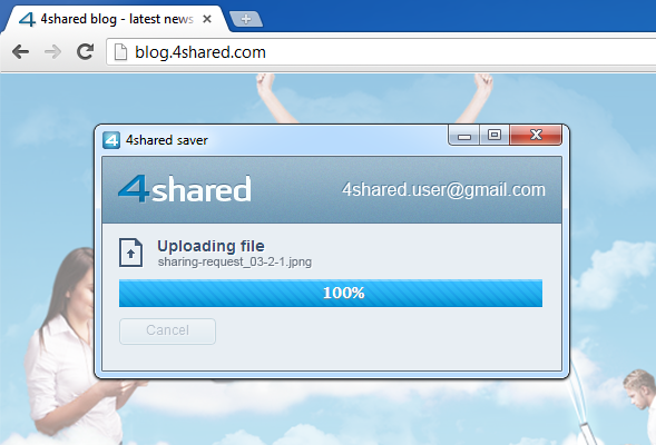 uploading upd Install our brand new SAVE TO 4SHARED extension for Google Chrome