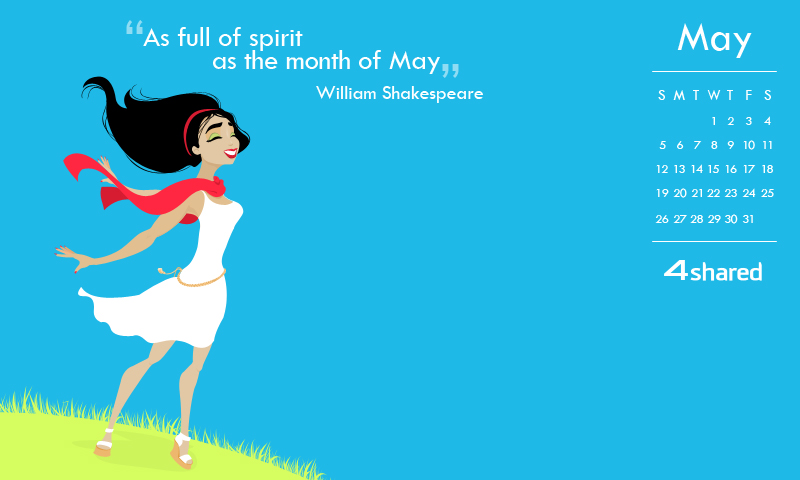 May 05 spirit 800x480 4shared May Calendar 2013