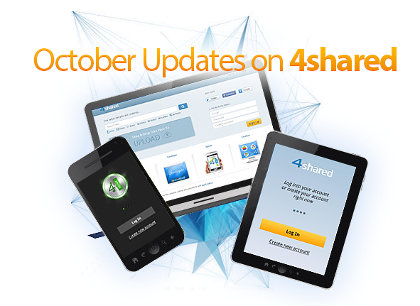 blog Find out more about 4shared: check the October updates