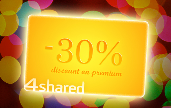 4sh HNYpromo30premium BLOG Happy New Year! 30% OFF on 4shared Premium