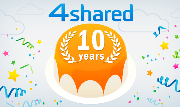4shared 10th Anniversary