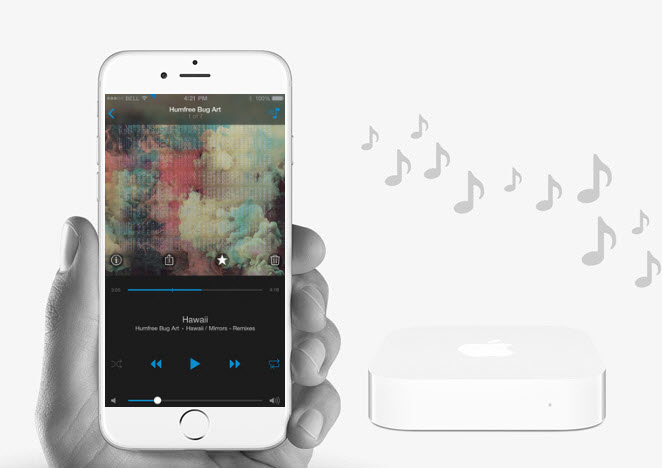 Stream 4shared files to AirPlay-enabled devices via 4shared for iOS!